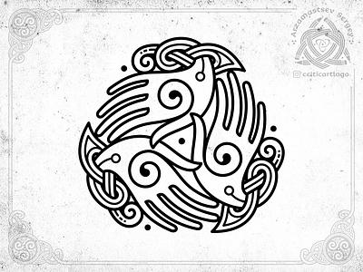 the Oath - triskelion hands triskel hand knotwork vector branding design logo emblem knot irish ornament celtic