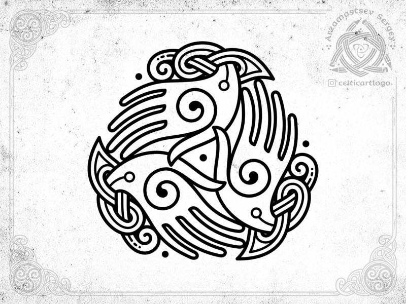 the Oath - triskelion hands triskel hand knotwork vector branding design logo emblem knot irish ornament celtic