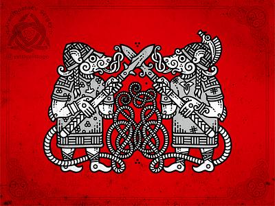 Warriors Rat norse 2020 rats warriors mouse rat warrior emblem design irish knotwork animal viking knot ornament celtic