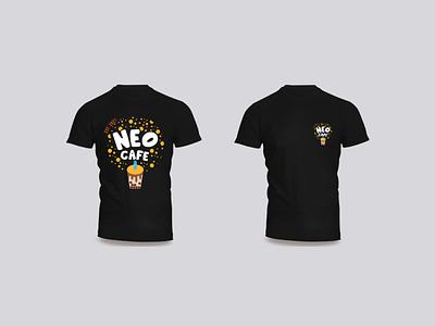 Neo Cafe T-shirt Design typography branding logo design