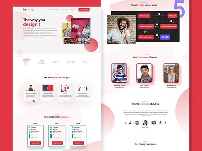 Onmyway UI Landing Page design app ux ui typography branding