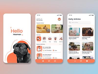 """Petcare"" Mobile App UI icon ux ui app vector typography design branding"