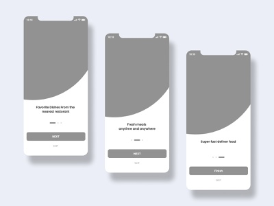 Wireframe-Onboarding Food App UI welcome page apple ui onboarding screen onboarding ui food app onboarding mobile ios iphone prototype wireframes sitemap mobile app ui app ux ui mobile ux mobile ui clean wireframe