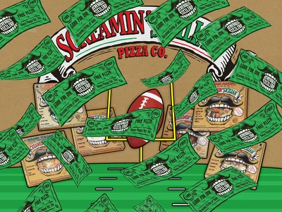 Making it Rain (Free Pizza) football animated ad web contest coupons pizza