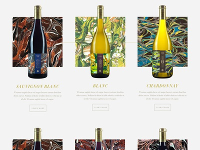 Wine Listing gold napa california typography serif minimal design wine web