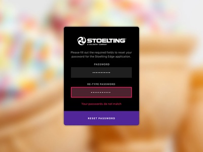 Stoelting Error Fields swipe color panel search ice cream clean mobile ipad