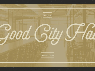 Good City Hall beer script web design brewery web