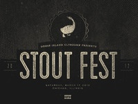 Goose Island Stout Fest 2012 | Poster WIP