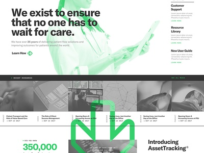 TeleTracking Concept Design grilli monospace overlay green typography design web