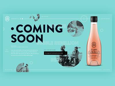 #BUBBLEREBELLION lander alcohol wine typograph bold web