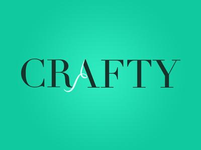Crafty - Logo logo font simple apparel branding clean clothing color emerald green identity minimal serif