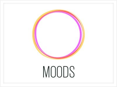 Moods - Logo moods logo colors font competition object interface