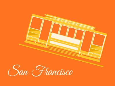 Internship in San Francisco san francisco california internship type illustration train orange white yellow
