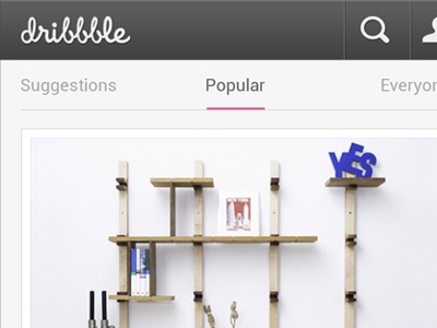 Dribbble for Android - Details pink android dribbble app popular search shot