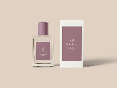 London & Amari  Eau De Parfum typography graphic design design branding
