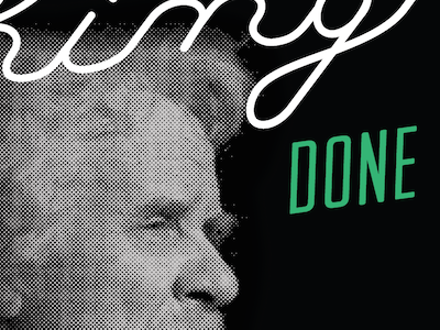 Mark Twain quote poster portrait halftone type done