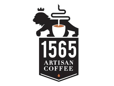 Coffee / Lion crown cup coffee lion logo