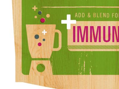 Immunity Boost Smoothie  vitamins smoothie blender dots illustration