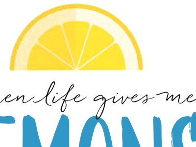 When life gives me lemons... pen branding illustration