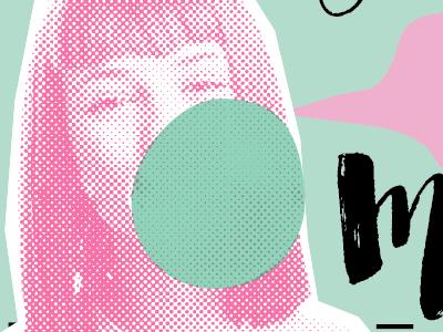 POP art :D halftone lip balm bubble gum