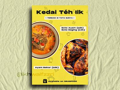 Design Menu on My Cousin Restaurant branding food restaurant design poster design menu graphic design poster indonesian food indonesian