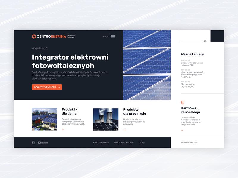 CentroEnergia studiohappy jachimczuk website design web ux ui product design