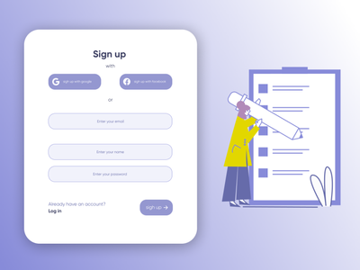#dailyui sign up design typography ux dailyui web ui