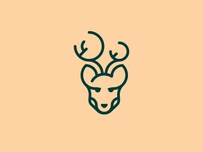 Stag green mark logo films deer stag