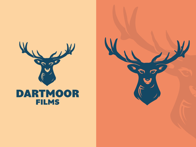 Dartmoor dartmoor films logo illustration stag