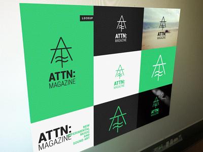 ATTN: attn: magazine emerald branding identity music sound art