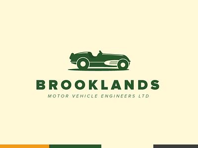 Brooklands brooklands branding sports car illustration racing green