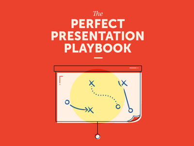 The Perfect Presentation Playbook retro yellow red offset typography illustration projector presentation