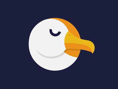 Albatross drone albatross navy orange bird branding logo