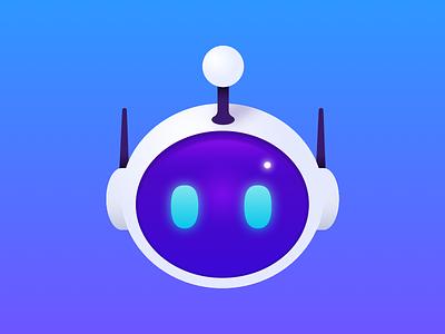 Robot colors design gradient sketch apollo robot icon vector illustration