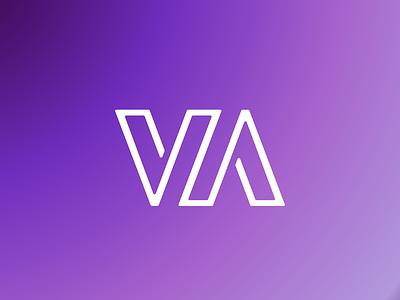 VA design illustration typography logo branding
