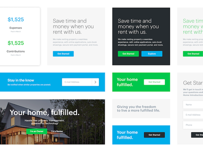 Stylin' style guide brand property house renting home green blue identity