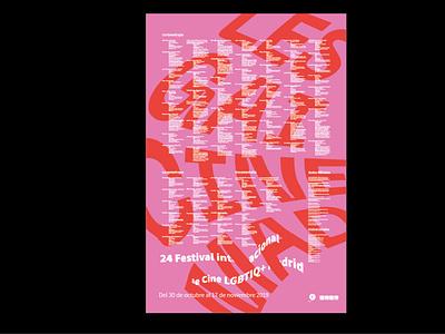 LESGAICINEMAD logo poster illustration graphic design editorial design branding