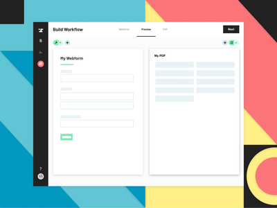 Anvil Workflows Launch! productive use saas editor side-by-side launch ui illustration automation pdf anvil paperwork