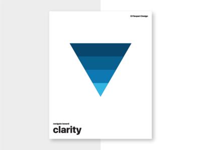 Navigate Toward Clarity principles poster flexport design