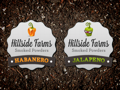 Habanero and Jalapeño Spice Labels label sticker peppers