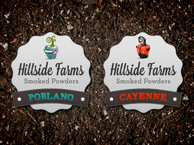 Poblano and Cayenne Spice Labels label sticker peppers