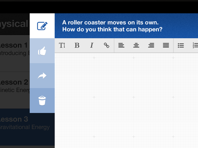 Input Editor tablet input editor icons blue ui