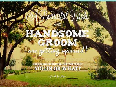 Srofe Wedding Website website type wedding invite
