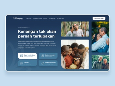 Condolences Responsive Website userinterface uiux responsive website design ux flat responsive website condolence clean responsive mobile desktop website ui