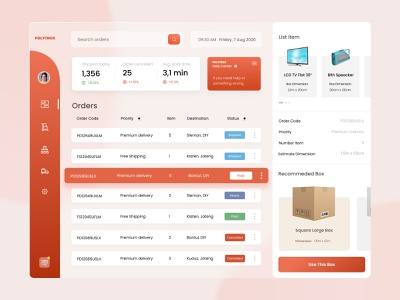 Warehouse Shipping Dashboard shipping warehouse manager ipad pro glassy box red warehouse dashboard design dashboard app dashboard ui ipad dashboard glass flat clean ux ui