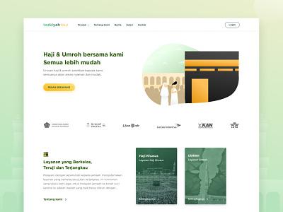Hajj & Umrah Website website design islam green umrah hajj webdesign web desktop design illustration design desktop clean ux flat ui website