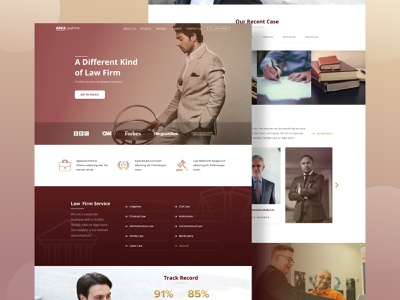 Law Firm Home Page ux clean ui design desktop website law law firm lawyer