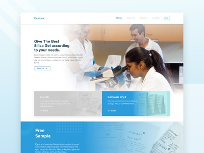 Cargo Desiccant Website container blue web product cargo design desktop ui ux website