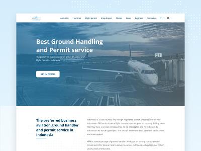 Aviation Website aviation airline airport desktop design design desktop clean ux website ui