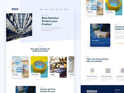 Dicson Website desktop design career homepage ux design desktop clean flat website ui